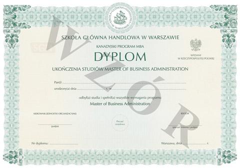Dyplom CEMBA