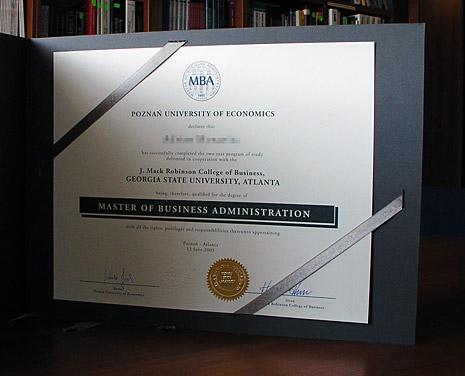 MBA Poznan Atlanta Diploma